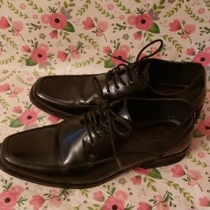 DEXTER COMFORT MEMORY FOAM BLACK DRESS SHOES 9